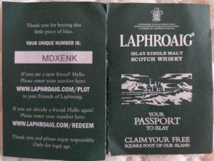 Laphroaig Leaflet